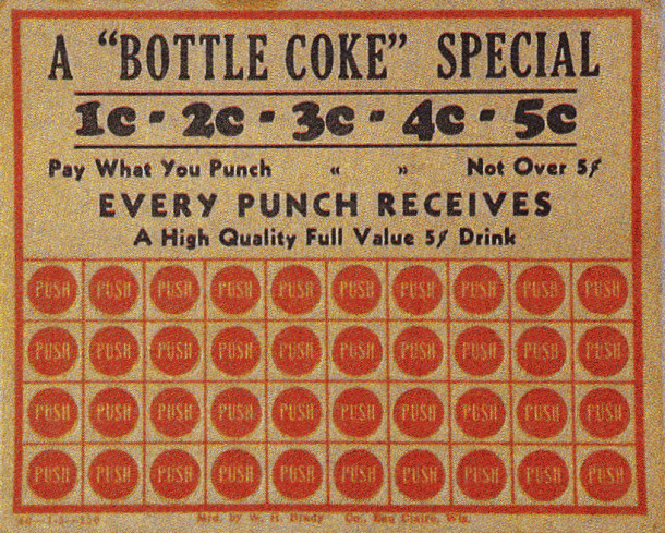 Promotion c.1900, One 5 cent Drink with every punch