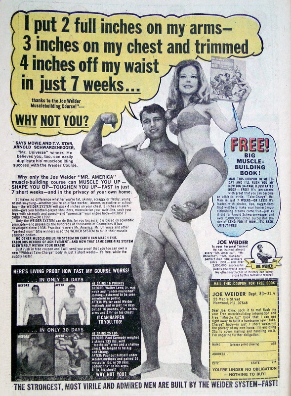 Arnold Schwarzenegger and Betty Weider