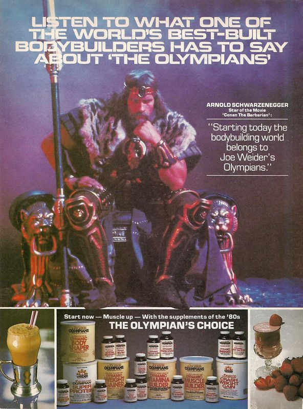 """Arnold Schwarzenegger: """"Conan The Barbarian"""" 1982"""