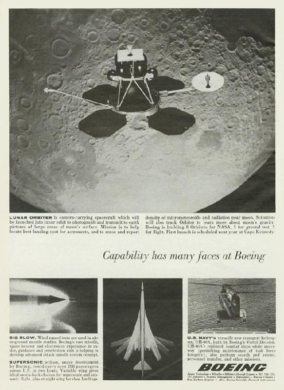 Boeing: Lunar Orbiter, 1965
