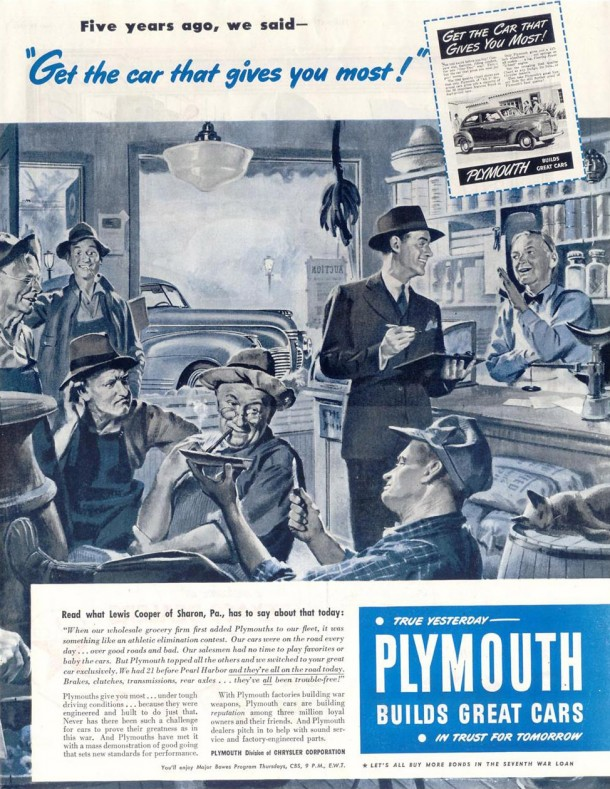 Get the car that gives you most!, 1945