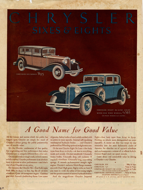 A good name for good value, 1931