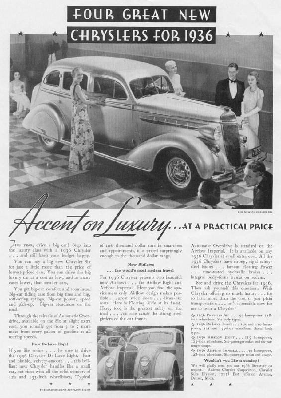 Accent on luxury... at a practical price, 1935