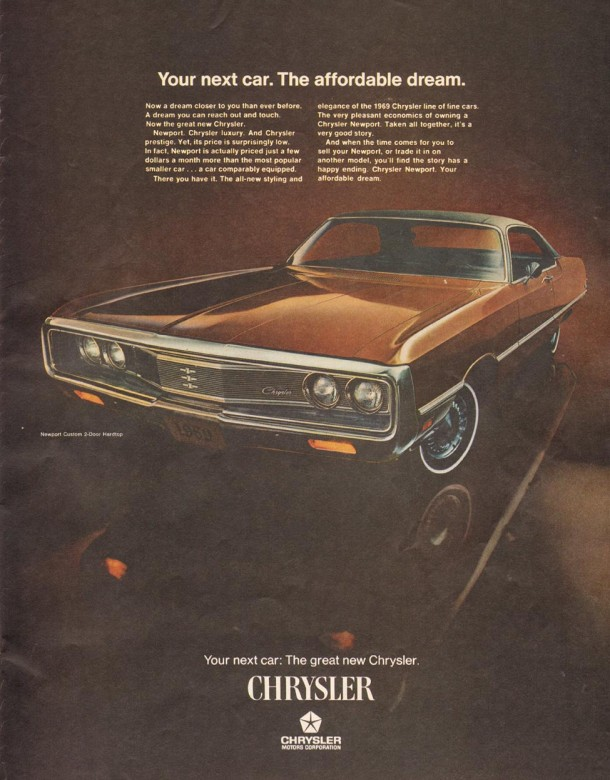 Your next car, the affordable dream, 1969