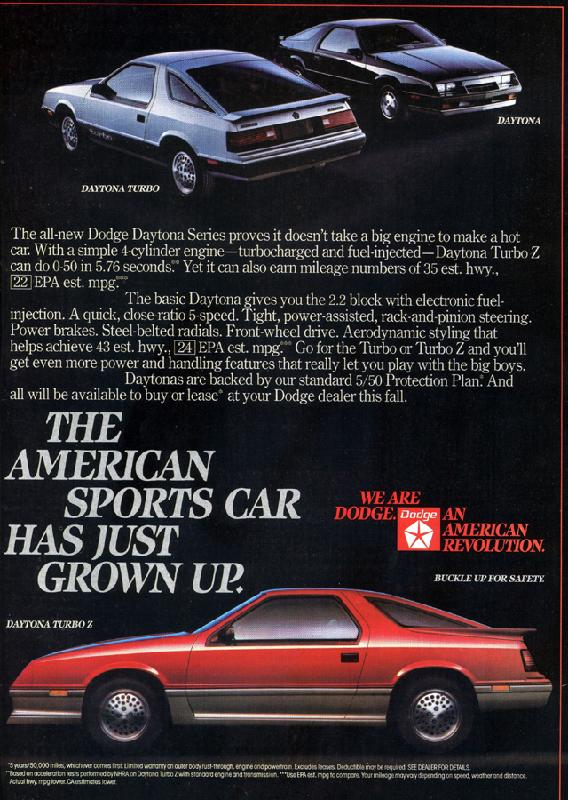 The American sports car has just grown up, 1983