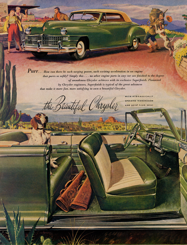 The beautiful Chrysler, 1947