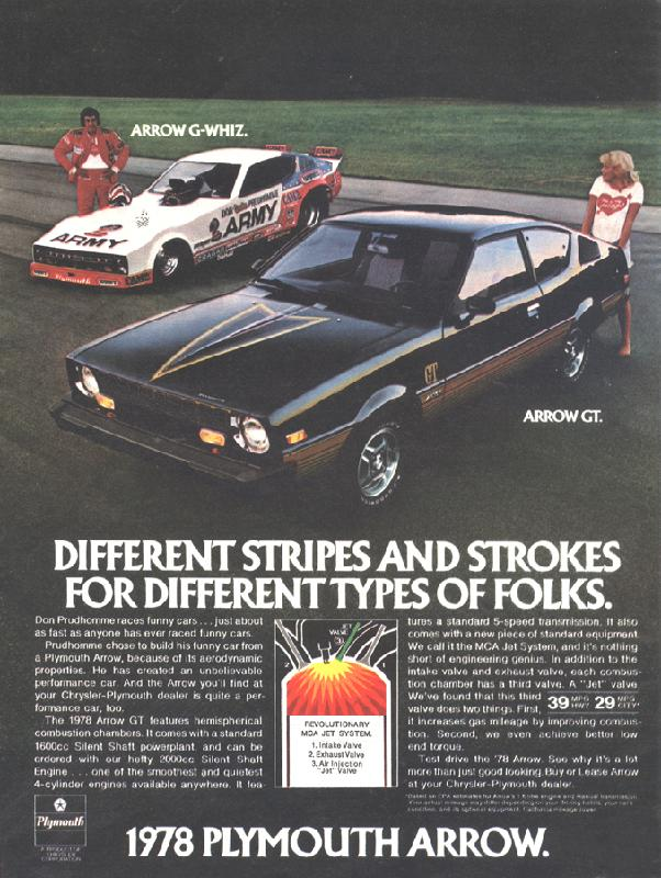 Different stripes and strokes for different types of folks, 1978