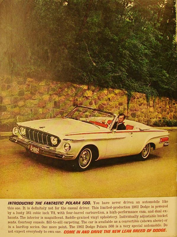 Introducing the fantastic Polara 500, 1961