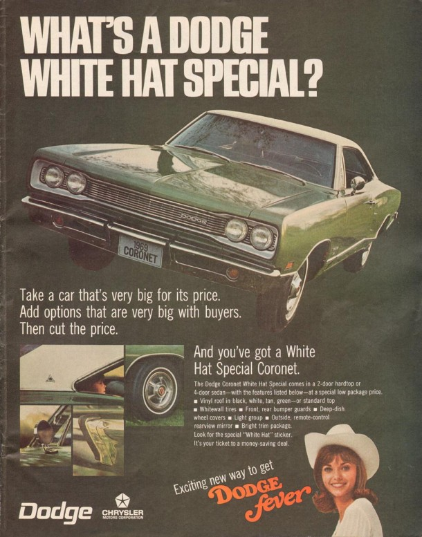 What's a Dodge white hat special?, 1969