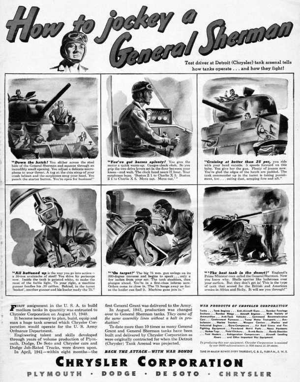 How to jockey a general sherman, 1943