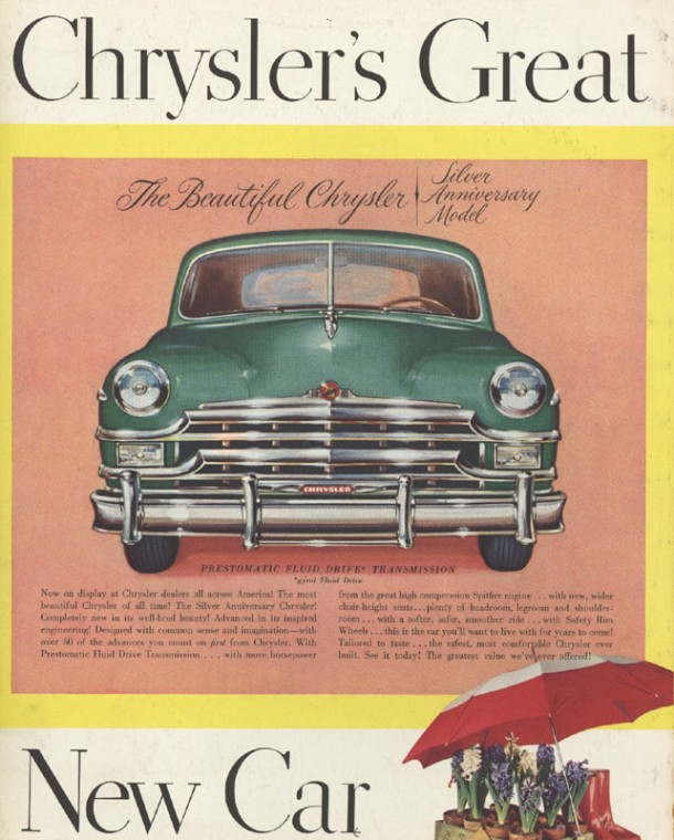 Chrysler's great, new car, 1949