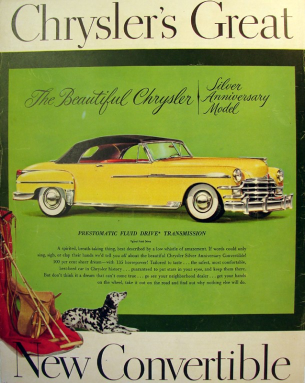 Chrysler's great, new convertible, 1949