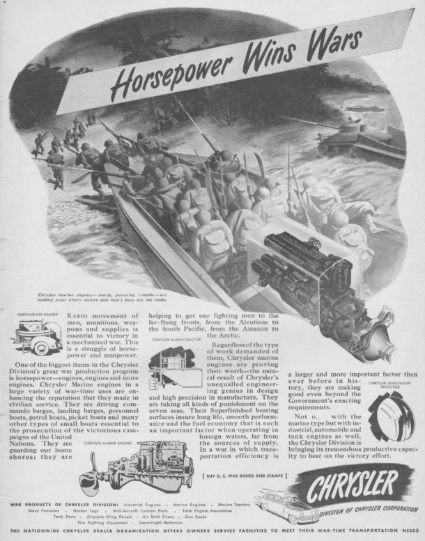 Horsepower wins wars, 1943
