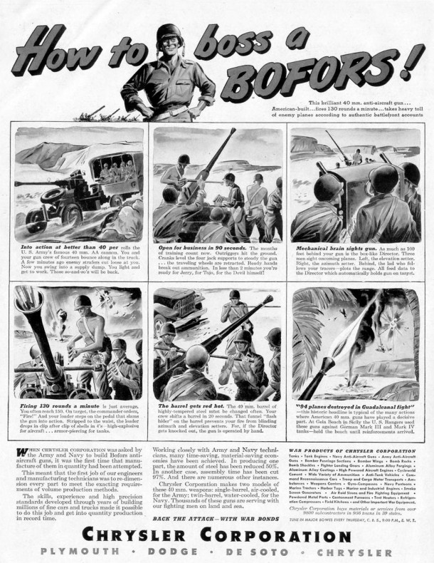 How to boss a bofors, 1943