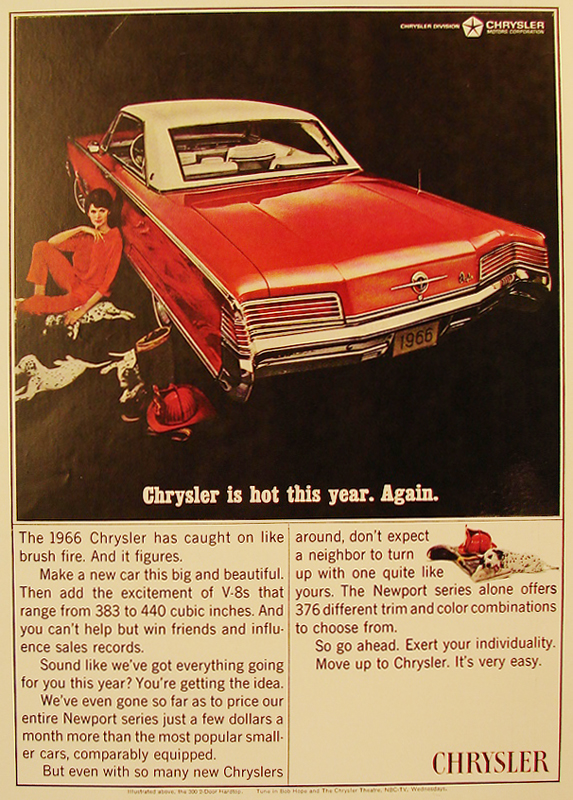 Chrysler is hot this year. Again, 1965