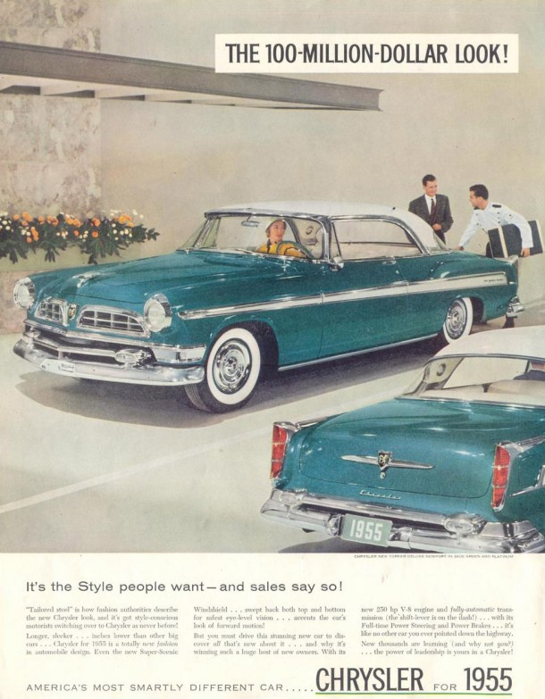 It's the style people want... and sales say so!, 1955