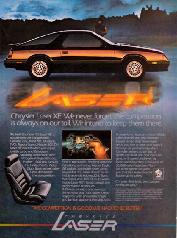 Chrysler Laser XE, 1985