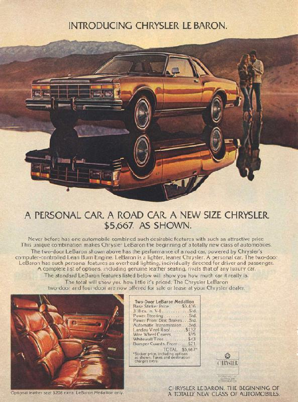 Introducing Chrysler Le Baron, 1977