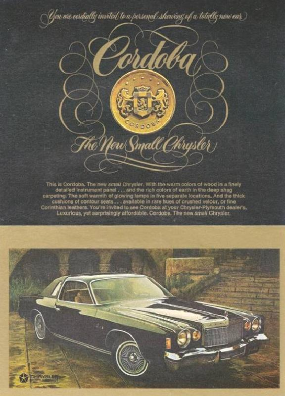 The new small Chrysler, 1975