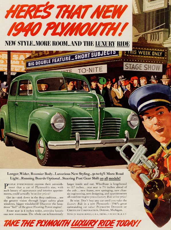 New style, more room and the luxury ride, 1939