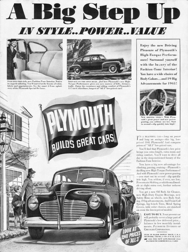 A big step up in style... power... value, 1940