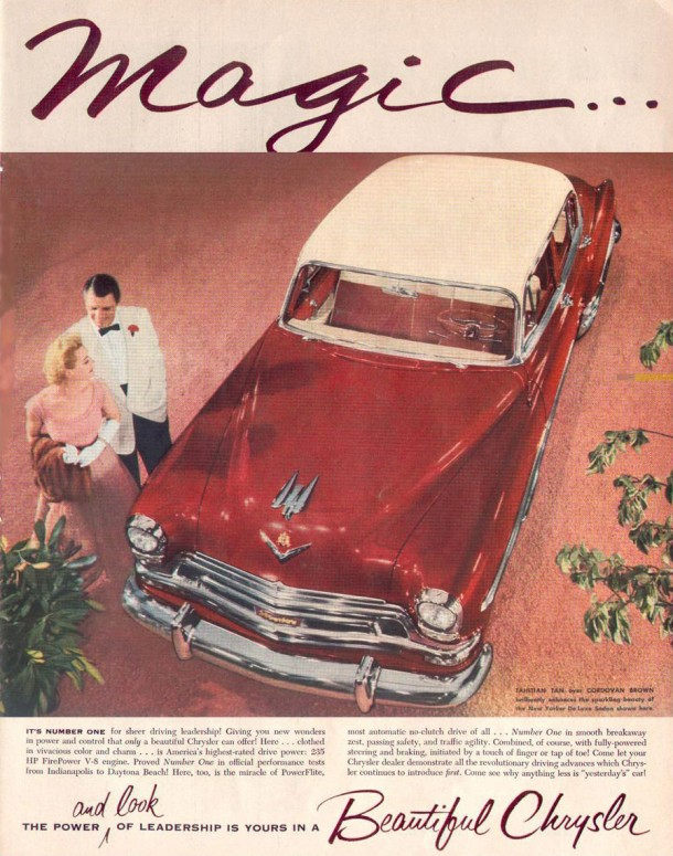 The power and look of leadership is yours in a beautiful Chrysler, 1954