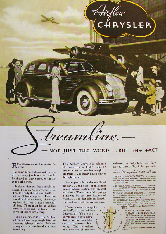 Streamline - not just the word... but the fact, 1934