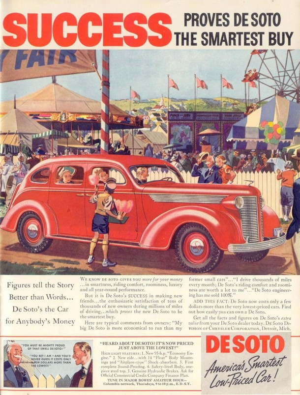 Success proves De Soto the smartest buy, 1937