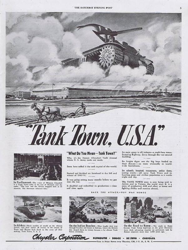 Tank town, USA, 1943