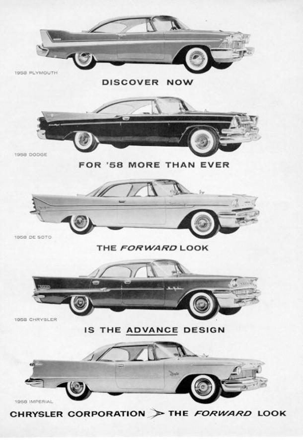 Chrylser corporation the forward look, 1958