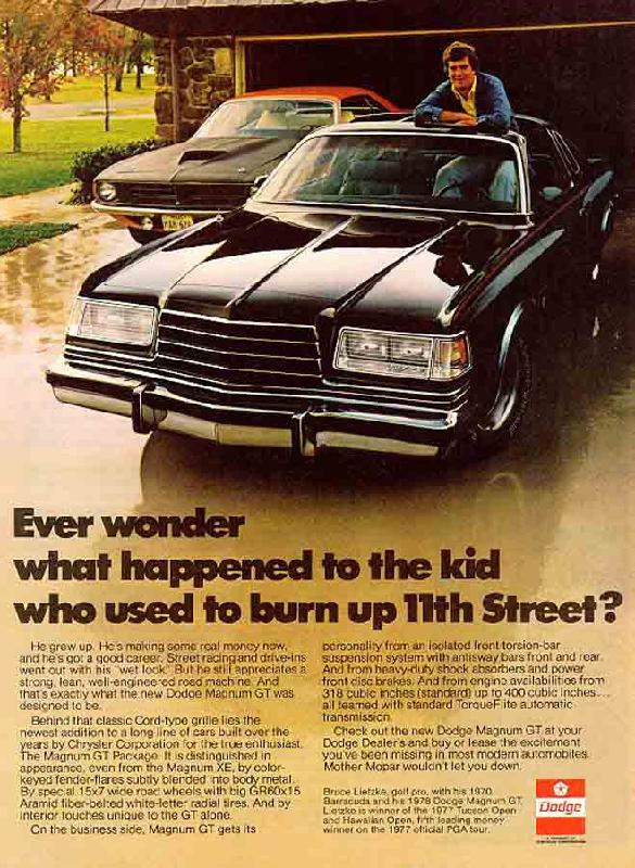 Ever wonder what happended to the kid who used to burn up 11th street?, 1978