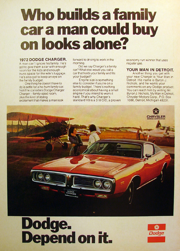 Who builds a family car a man could buy on looks alone?, 1971
