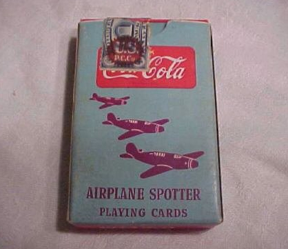 Coca-Cola airplane spotter cards