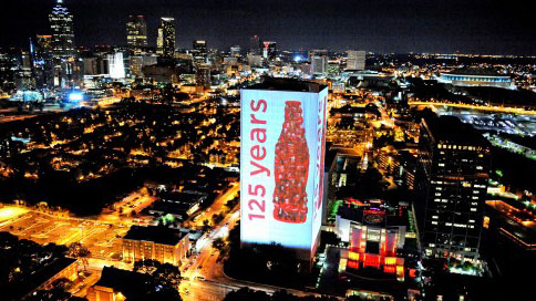 Coca-Cola largest building illumination