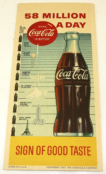 Coca-Cola 58 million a day 1957