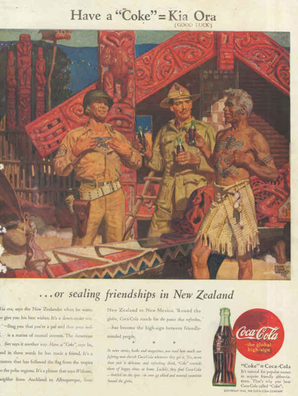 American soldiers in New Zealand, Coca-Cola ad 1943