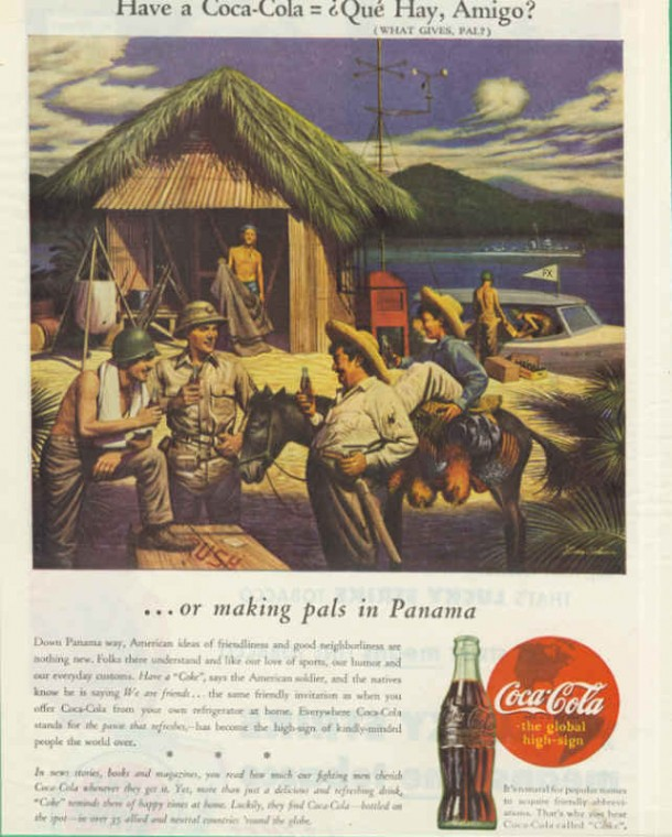 American soldiers in Panama, Coca-Cola ad 1943
