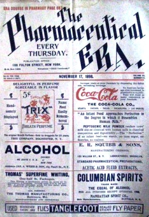 1898 Coca-Cola ad at the weekly newspaper focused on pharmaceutics