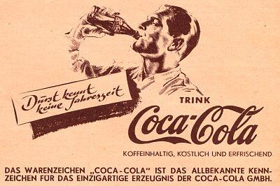 Coca-Cola ad Third Reich 1935