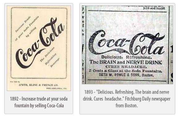 Coca-Cola ads 1892 - 1893