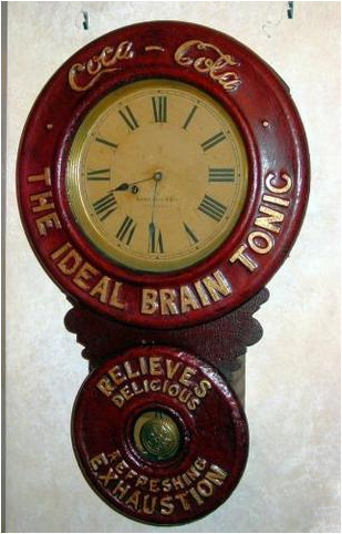 Coca-Cola advertising clock Circa 1893
