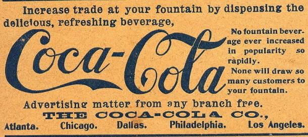 "Coca-Cola advertisement on the cover of ""American Druggist"" Magazine, 1900."