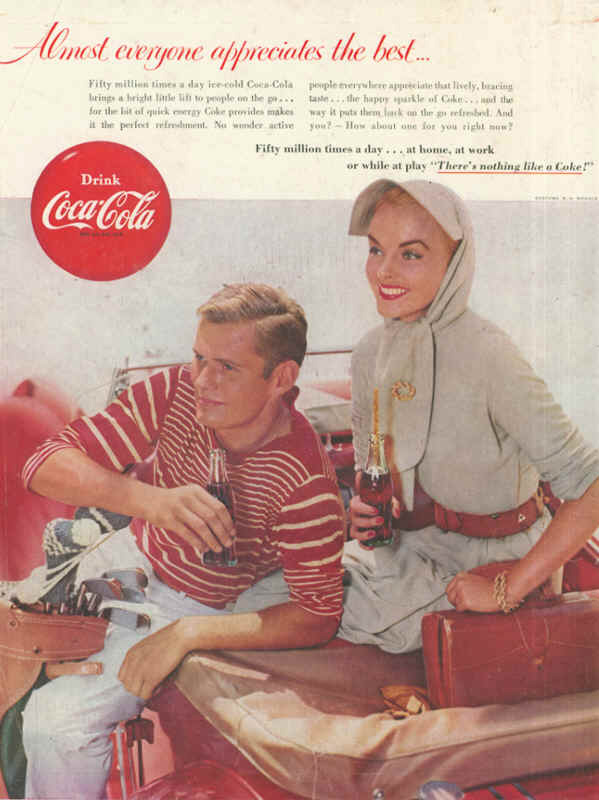 Coca-Cola almost everyone appreciates the best 1955