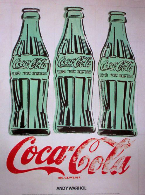Coca-Cola 3 bottles by Andy Warhol 1962