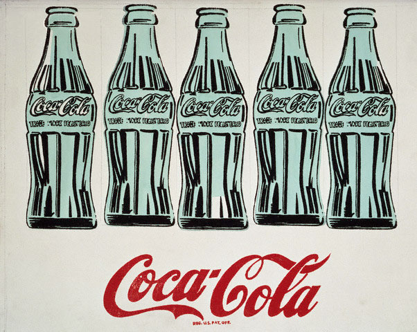 Coca-Cola 5 bottles by Andy Warhol 1962