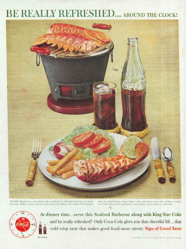 Seafood Barbecue along with King Size Coke 1960