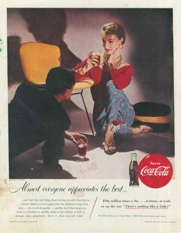 Coca-Cola at home, at work or on the way 1955