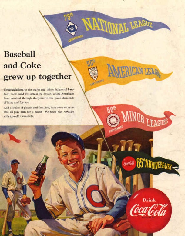 Baseball and Coke grew up together 1951