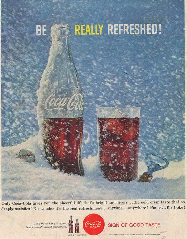 Coca-Cola be really refreshed 1959