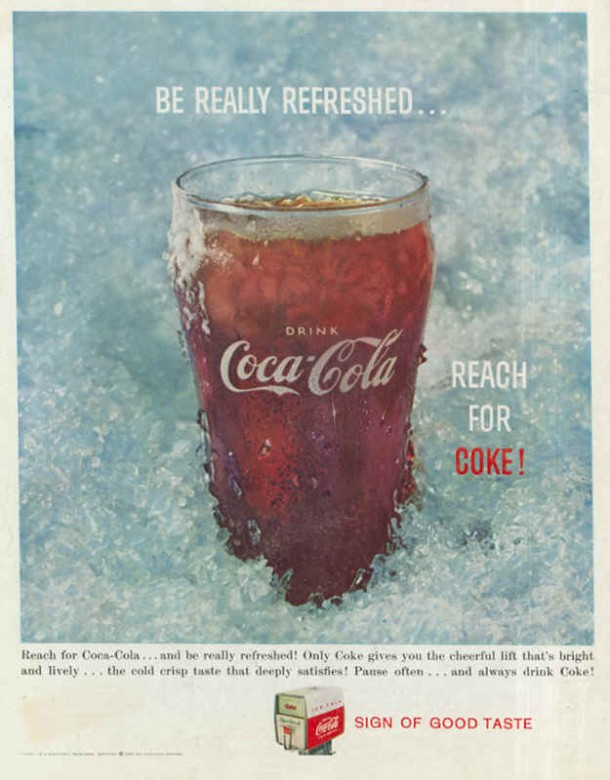 Be really refreshed... reach for Coke! 1959